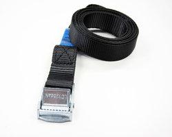 Spanband zwart 2.5 meter x 25 mm, 2 stuks.