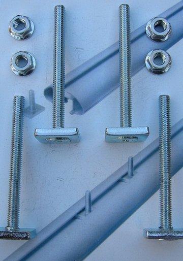 GEV 4886 Skidrager T-gleuf montaget set
