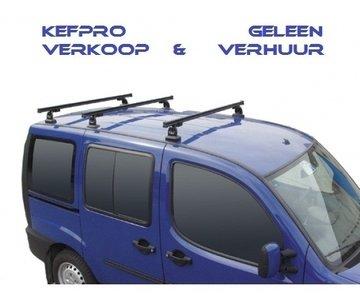 GEV PRO 9411 FORD TRANSIT CUSTOM dakdrager set met 3 stangen vanaf 2014