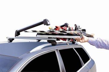 GEV A8950 SKID skidrager uitschuifbaar 63 cm dakdragermontage 6/2 aluminium T-gleuf